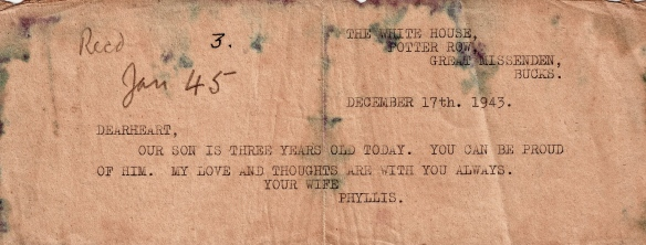 permitted Far East POW letters