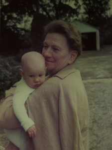 Phyllis Custance Baker with grandchild